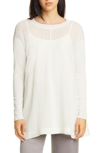 Eileen Fisher Tops SILK GEORGETTE TUNIC TOP