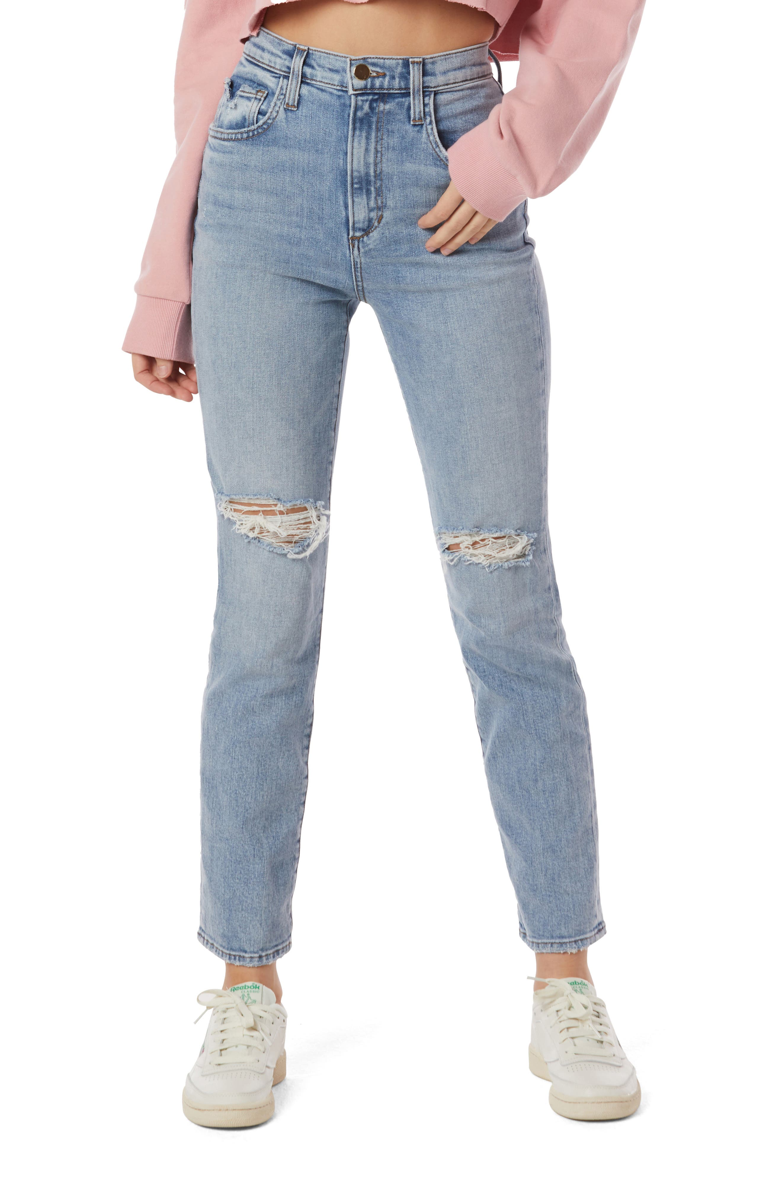 The Valentina Distressed Super High Waist Jeans