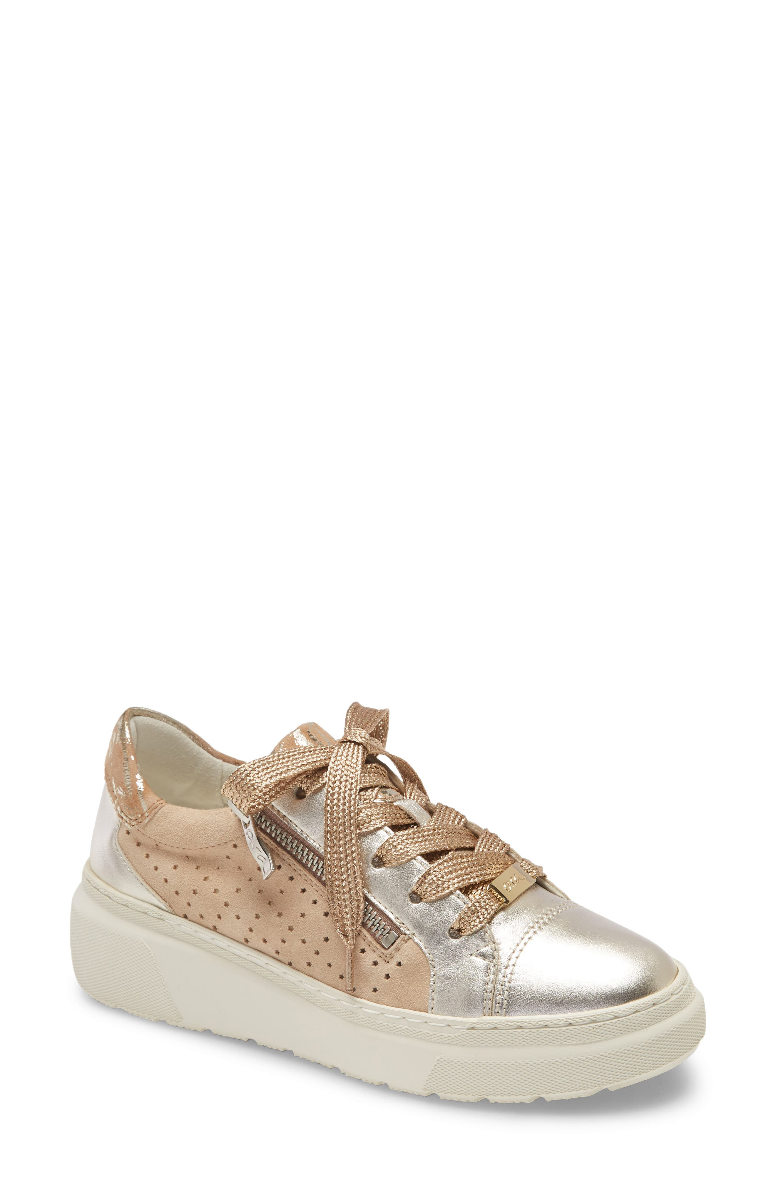 HighSoft technology meets high style in this mixed-metallic sneaker with golden laces, a supple padded insole and comfortable arch support. Style Name: Ara Lanette Sneaker (Women). Style Number: 6010409. Available in stores.