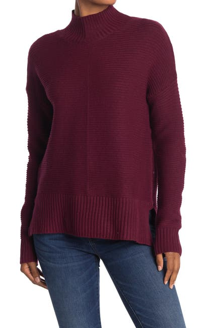 Image of Sweet Romeo Mock Neck Cool Girl Tunic Sweater