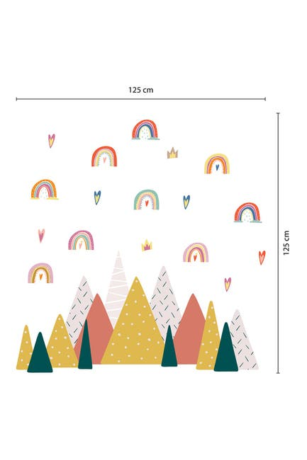 Image of WalPlus Scandinavian Rainbow Wall Decor