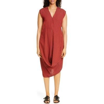 Zero + Maria Cornejo Batik Pucker Loop Dress, Red