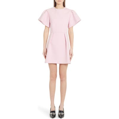 Alexander Mcqueen Exaggerated Sleeve Minidress, US / 40 IT - Pink