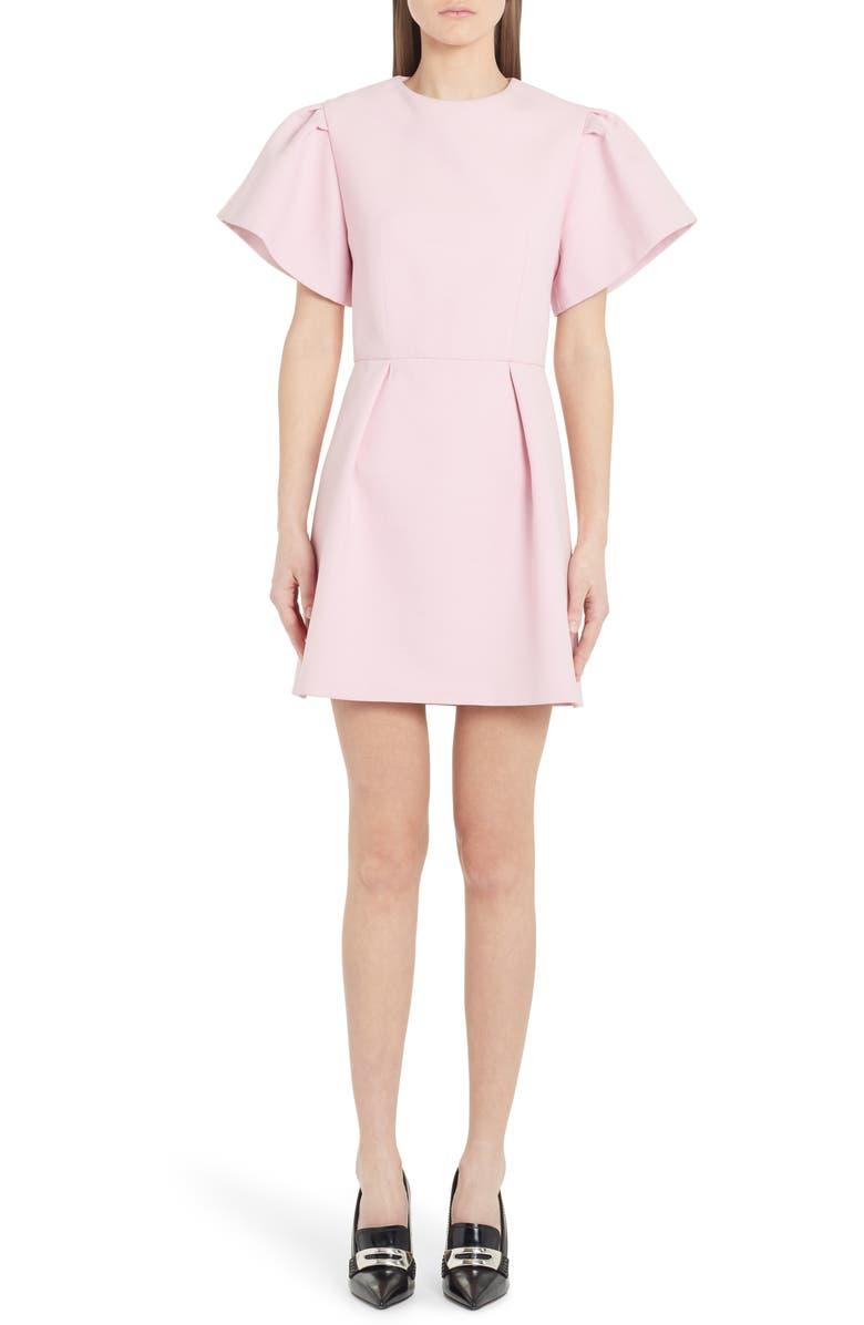 ALEXANDER MCQUEEN Exaggerated Sleeve Minidress, Main, color, SUGAR PINK