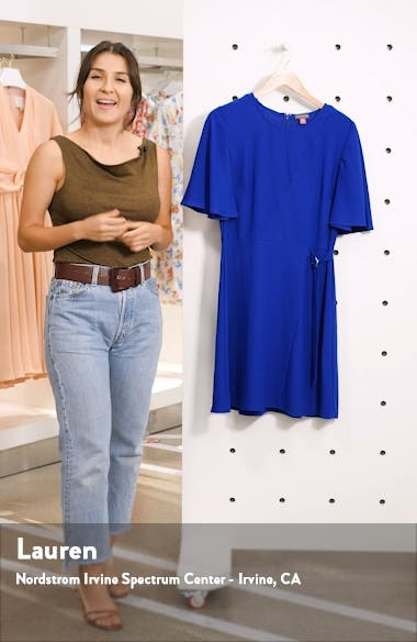 Flutter Sleeve Fit & Flare Dress, sales video thumbnail