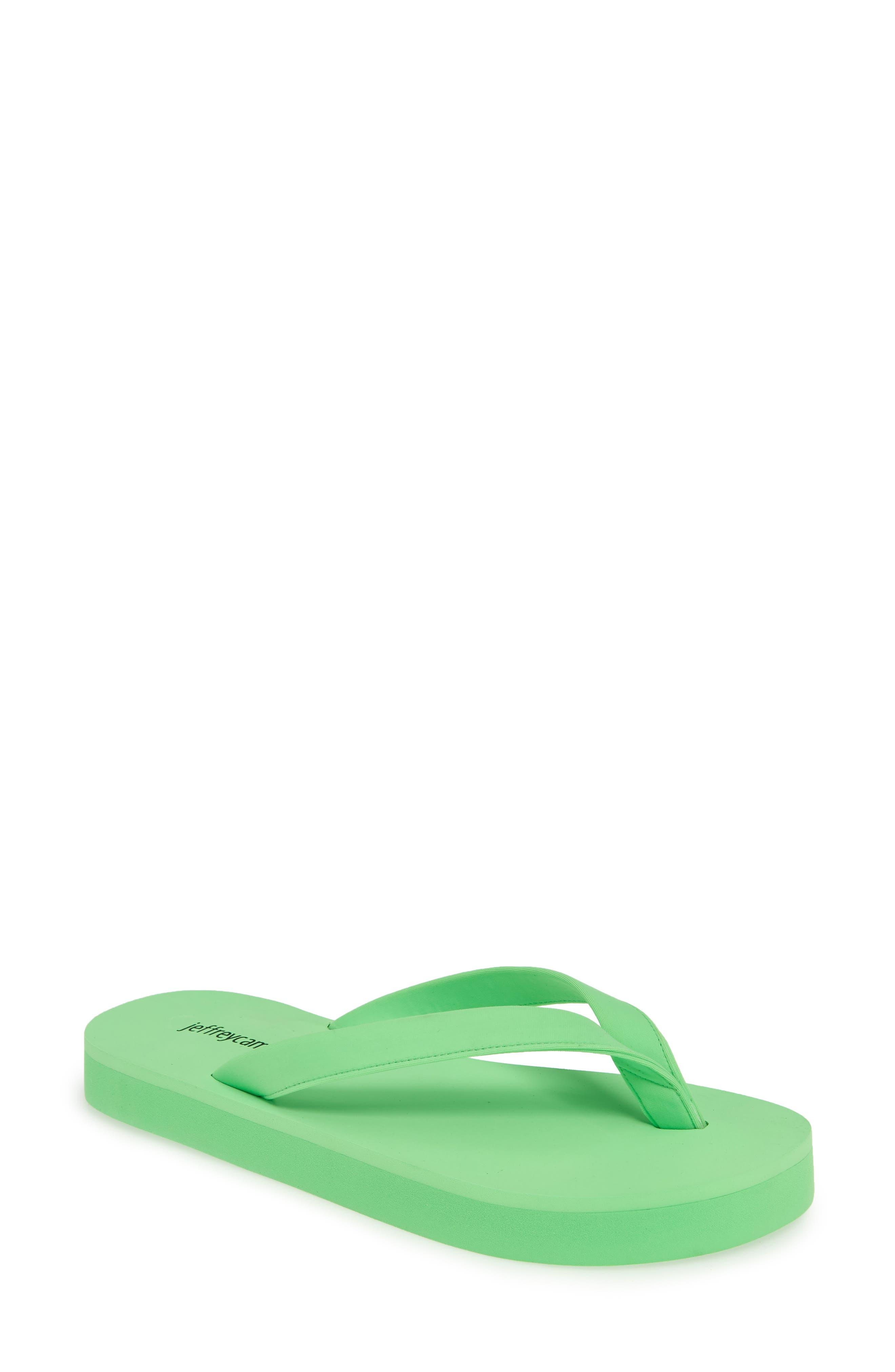 Jeffrey Campbell Surf Flip Flop, Green
