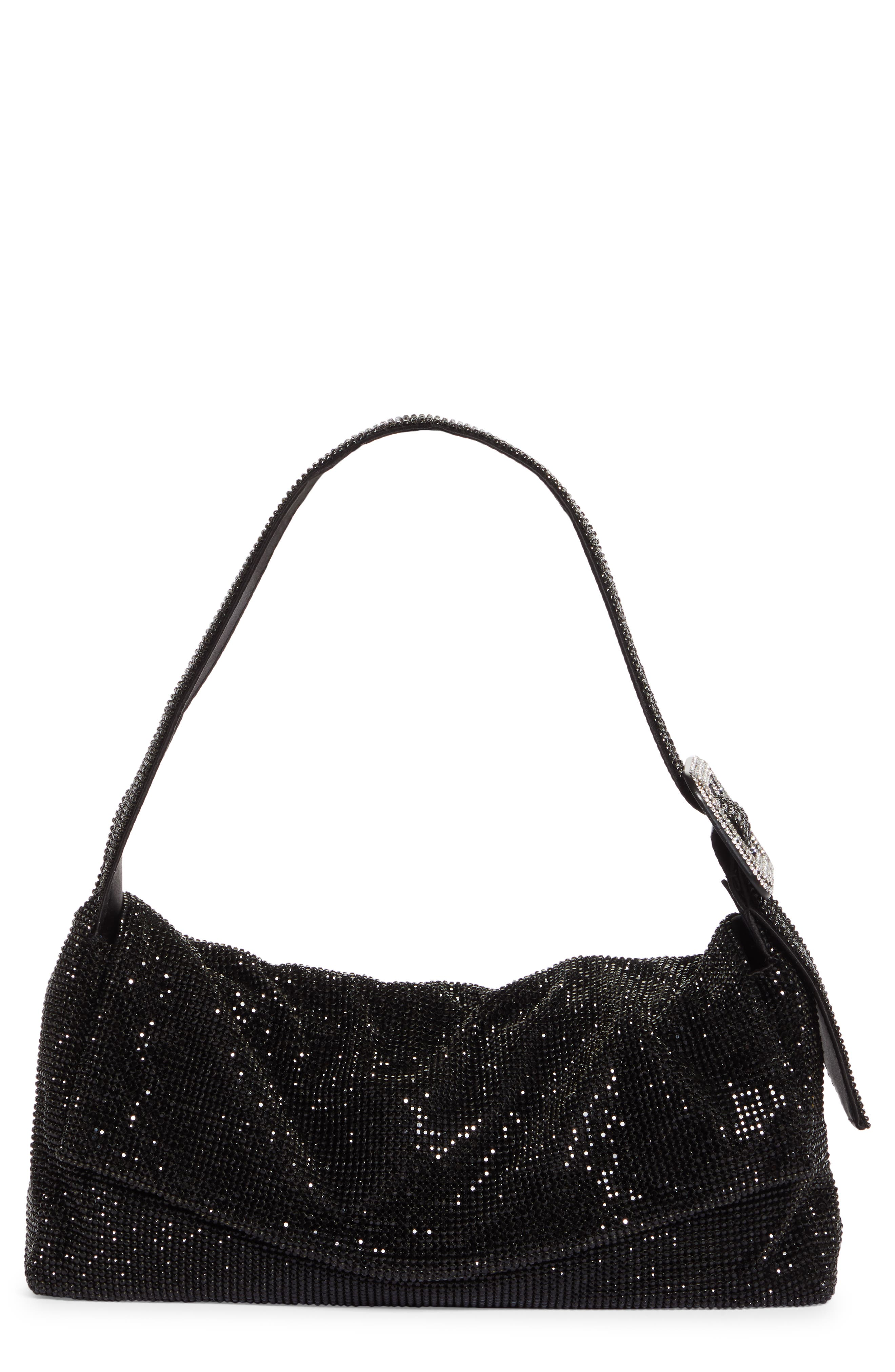 Vitty Grande Crystal Mesh Shoulder Bag