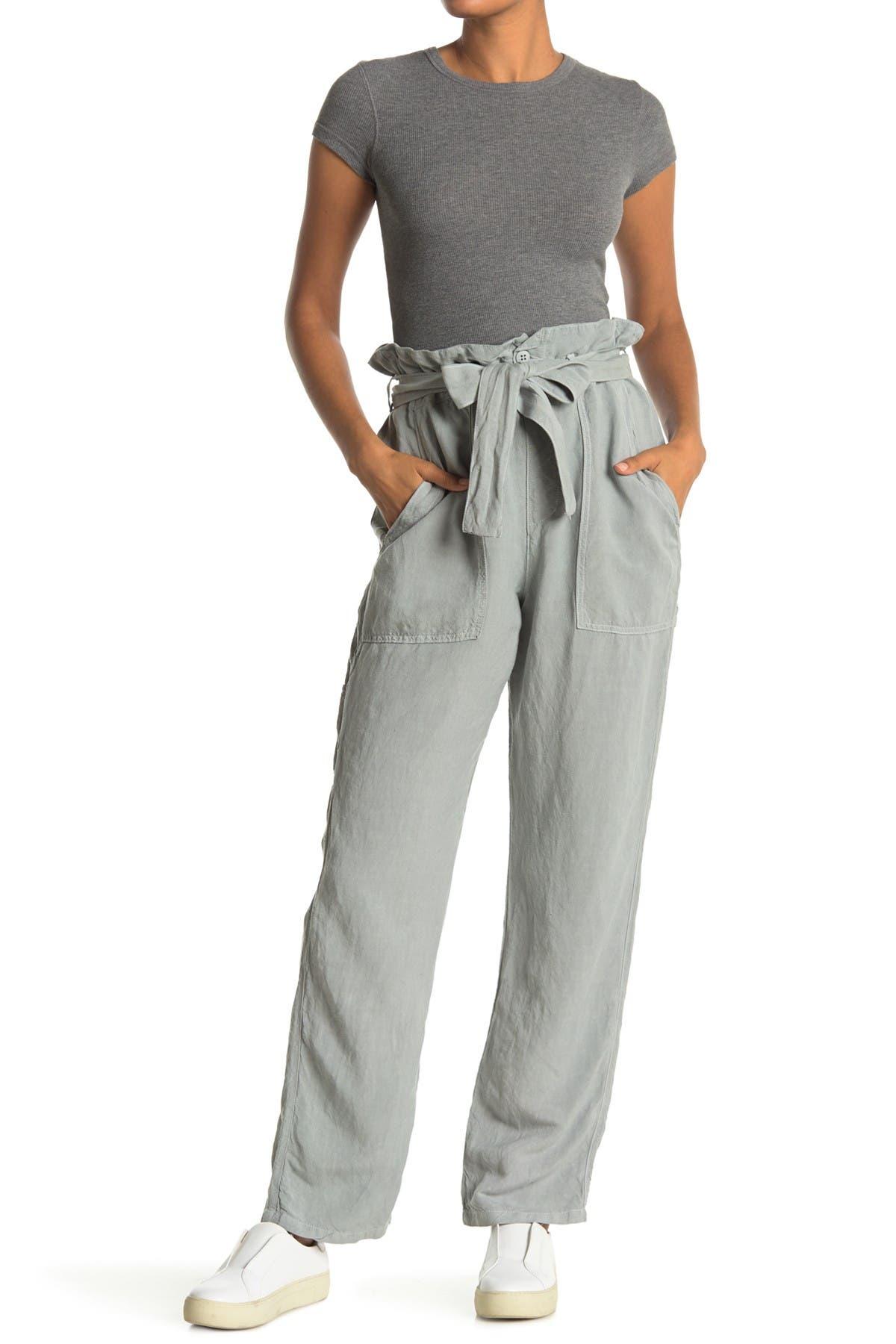 Image of NSF CLOTHING Josephine Paperbag Waist Linen Blend Pants