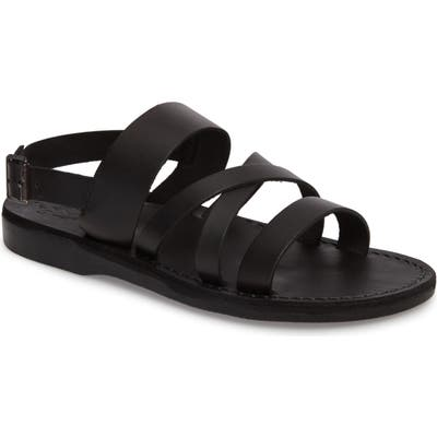Jerusalem Sandals Silas Slingback Sandal - Black