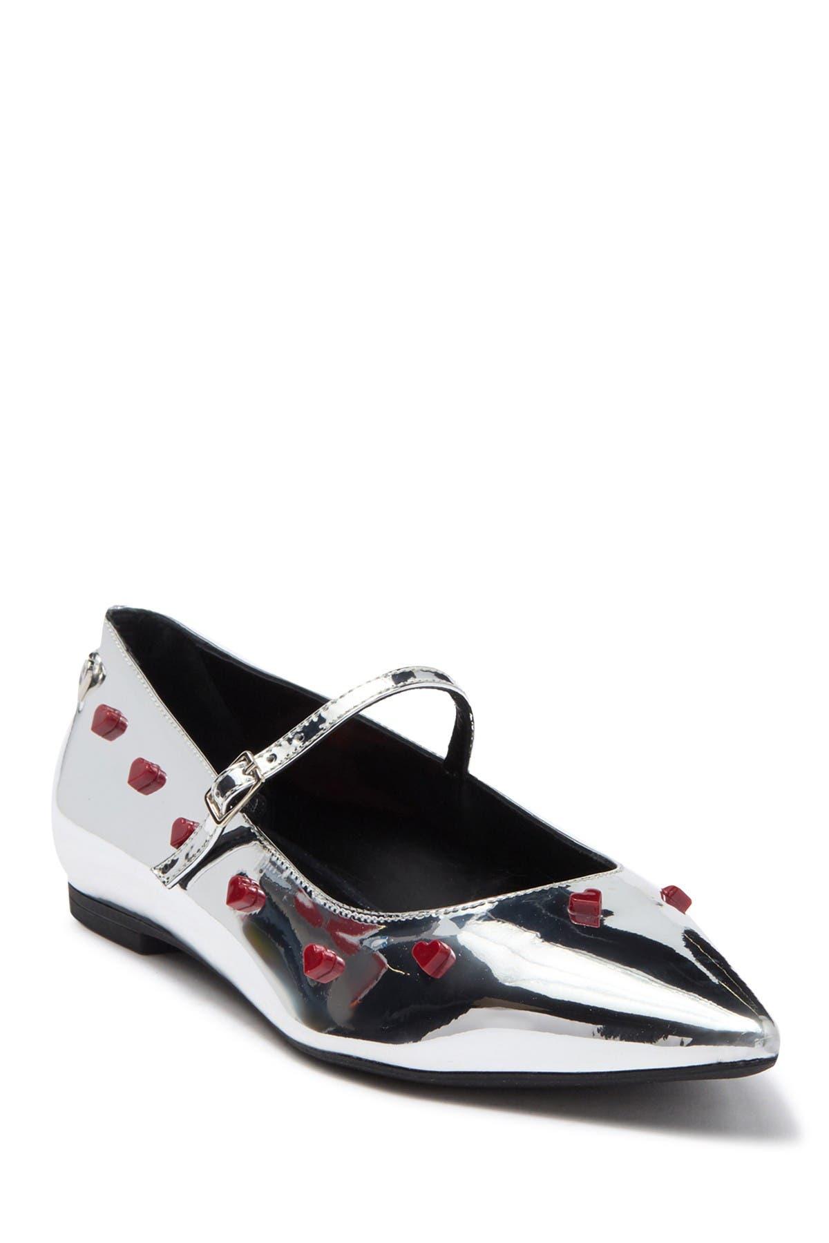 Image of LOVE Moschino Metallic Pointed Toe Flat