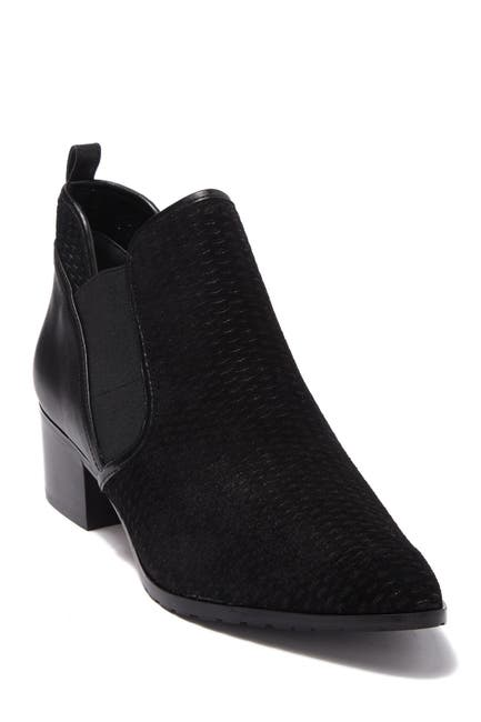 Image of Donald Pliner Darla 2 Perforated Suede & Leather Ankle Boot