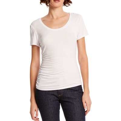 Michael Stars Lily Ruched Tee, White