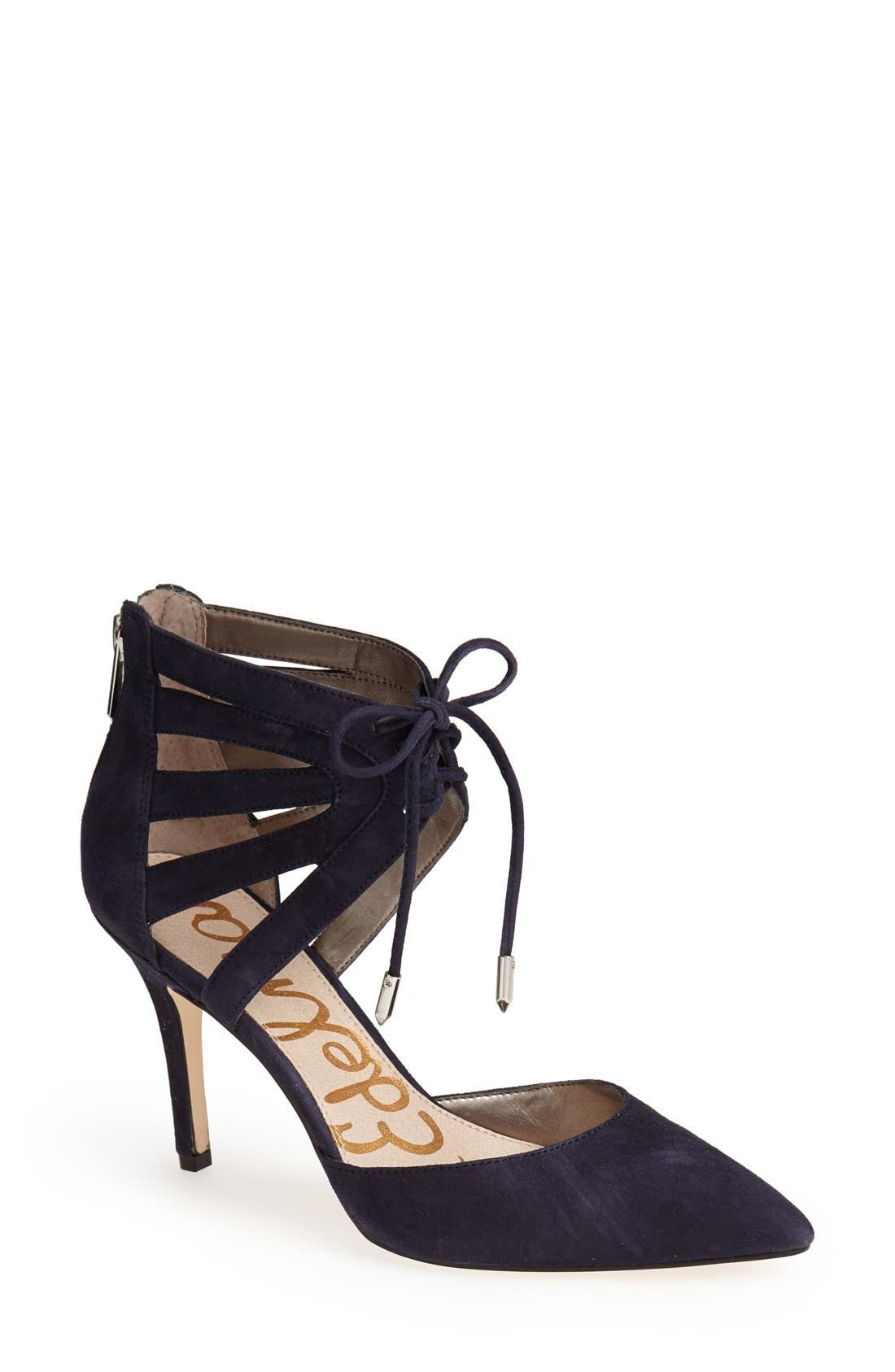 ,                             'Zachary' Cutout Ankle Cuff Suede Pump,                             Main thumbnail 6, color,                             400