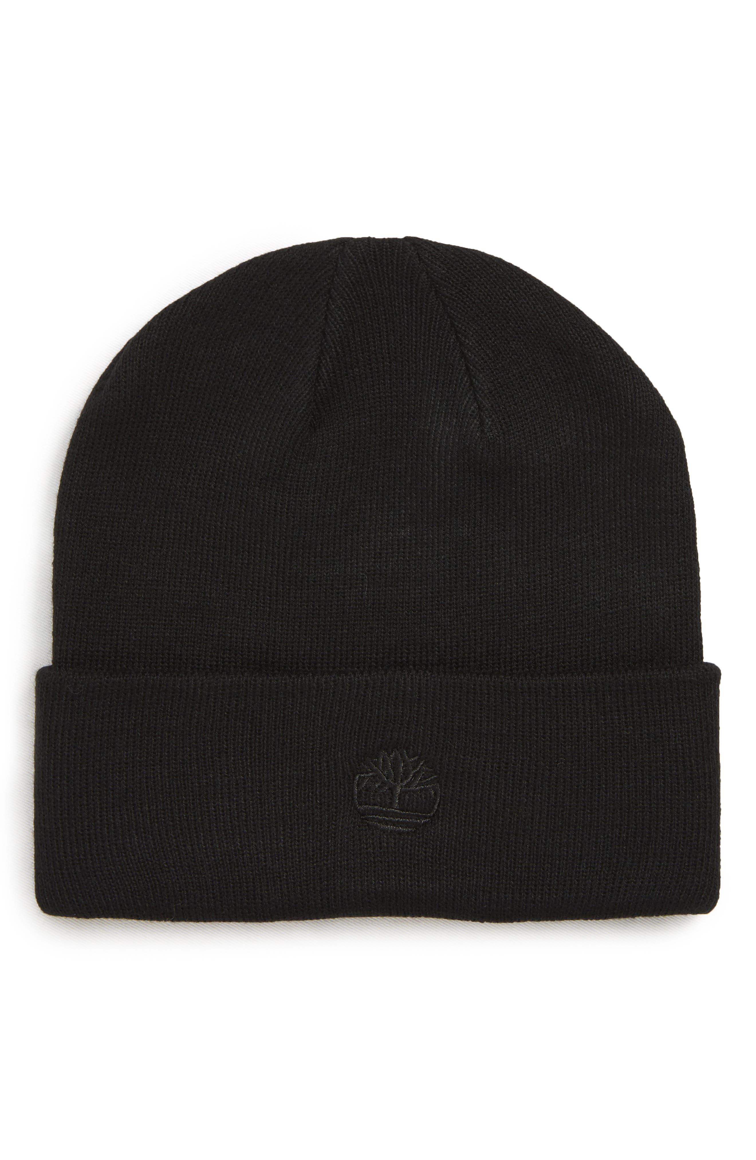 Image of Timberland Embroidered Logo Cuffed Knit Beanie