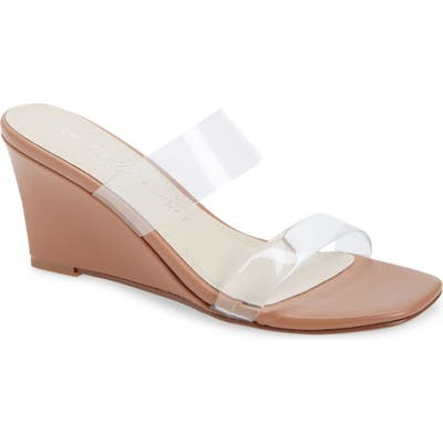 Chinese Laundry Tann Wedge Slide Sandal, Beige