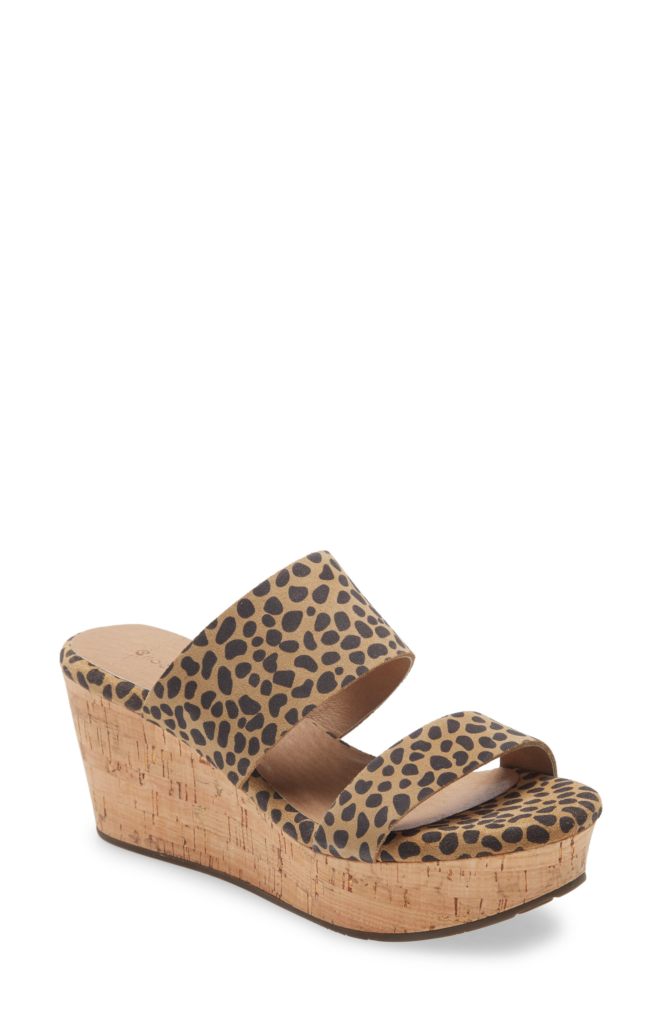 Strappy Wedge Slide Sandal