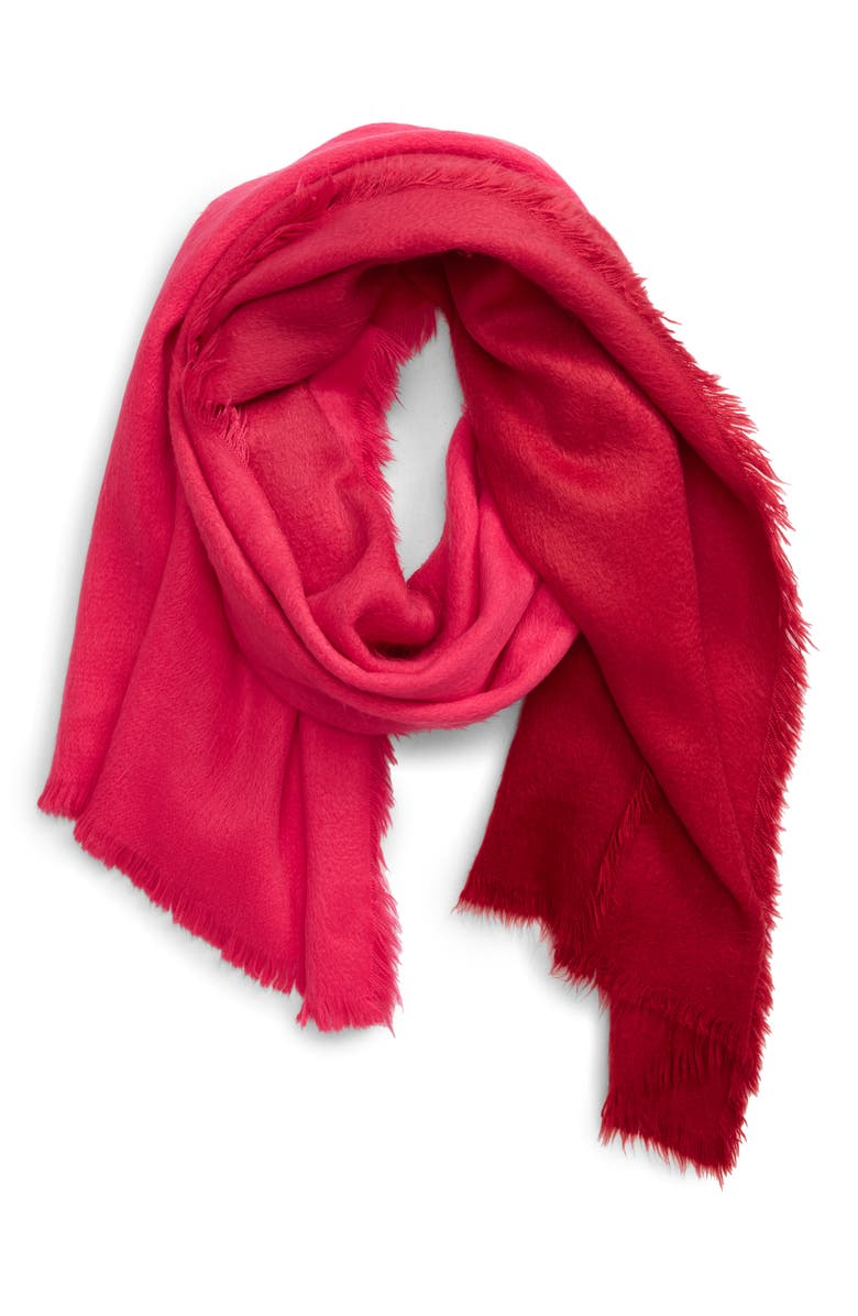 BP. Ombré Cozy Wrap, Main, color, RED COMBO