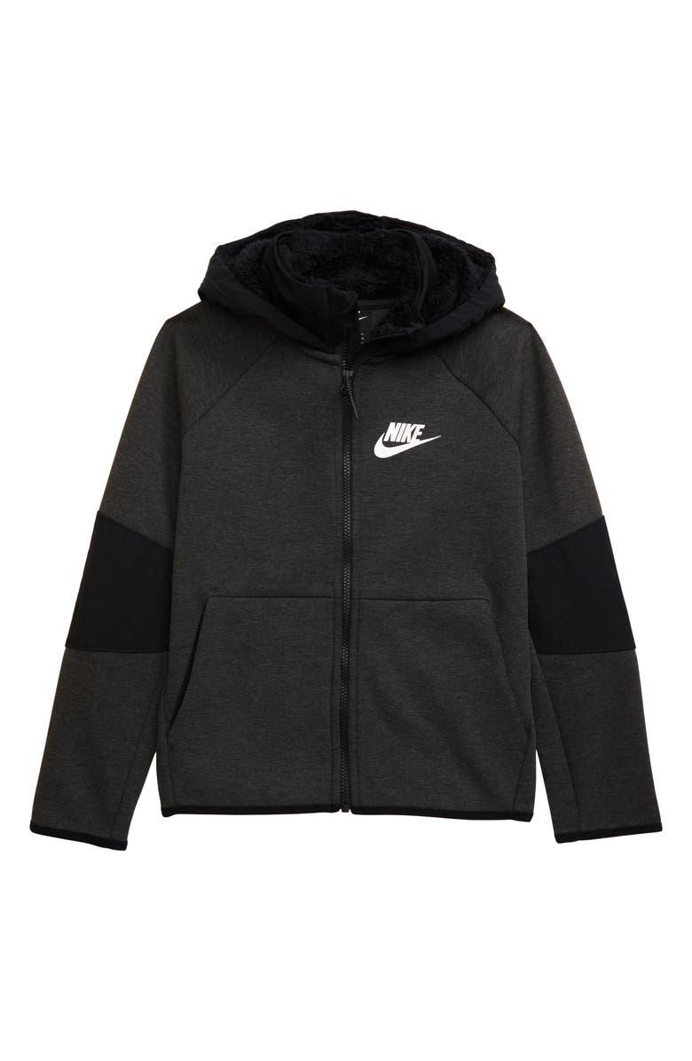 Nike Sportswear Winterized Tech Fleece Zip Hoodie (Little