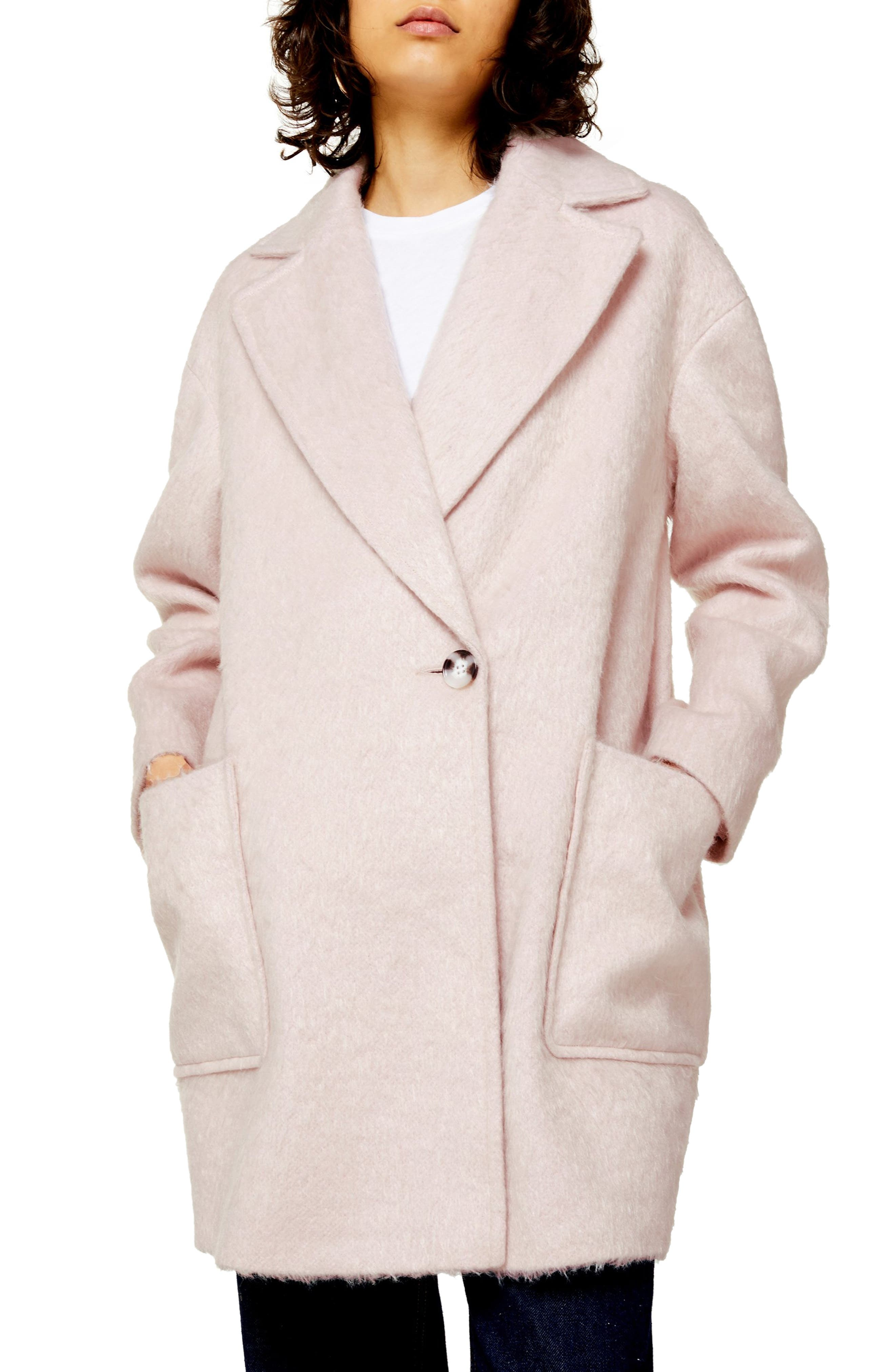 EAN 5045440643450 product image for Women's Topshop Carly Coat, Size 14 US (fits like 16-18) - Pink | upcitemdb.com