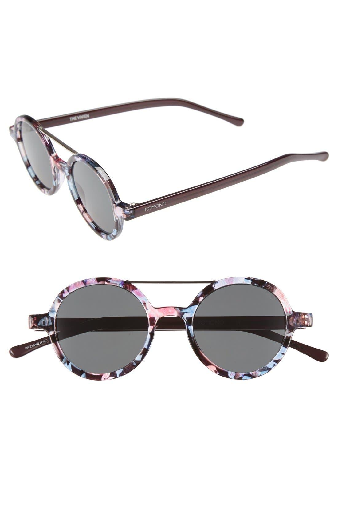 ,                             'Vivien' Round Lens Sunglasses,                             Main thumbnail 5, color,                             650