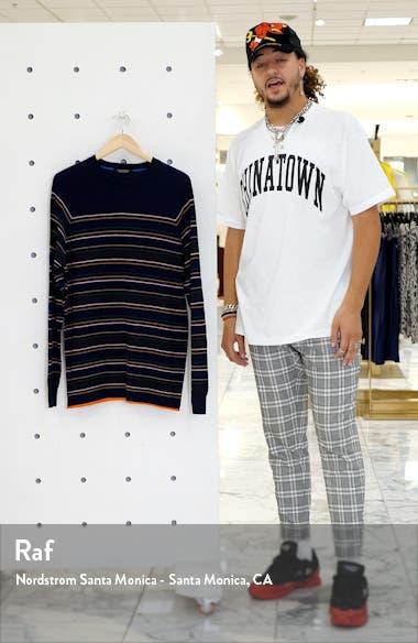 Regular Fit Stripe Crewneck Sweater, sales video thumbnail
