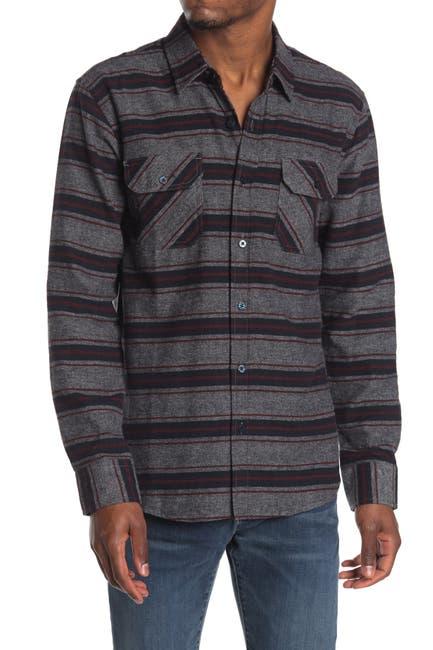 Image of Coastal Owen Brushed Cotton Horizontal Striped Shirt