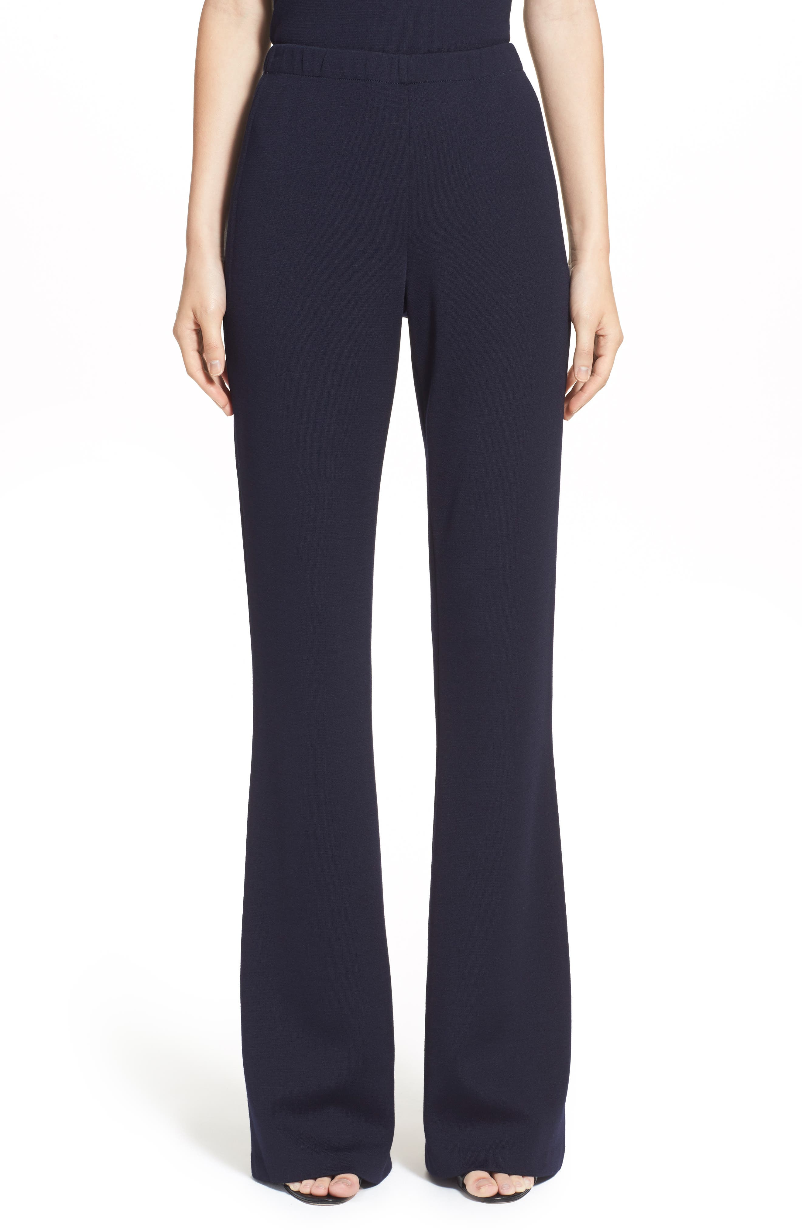 As versatile as they are flattering, these bootcut pants are crafted from a seasonless wool-blend knit with comfortable give and great shape retention. Style Name: St. John Collection Kasia Milano Knit Bootcut Pants. Style Number: 168149. Available in stores.