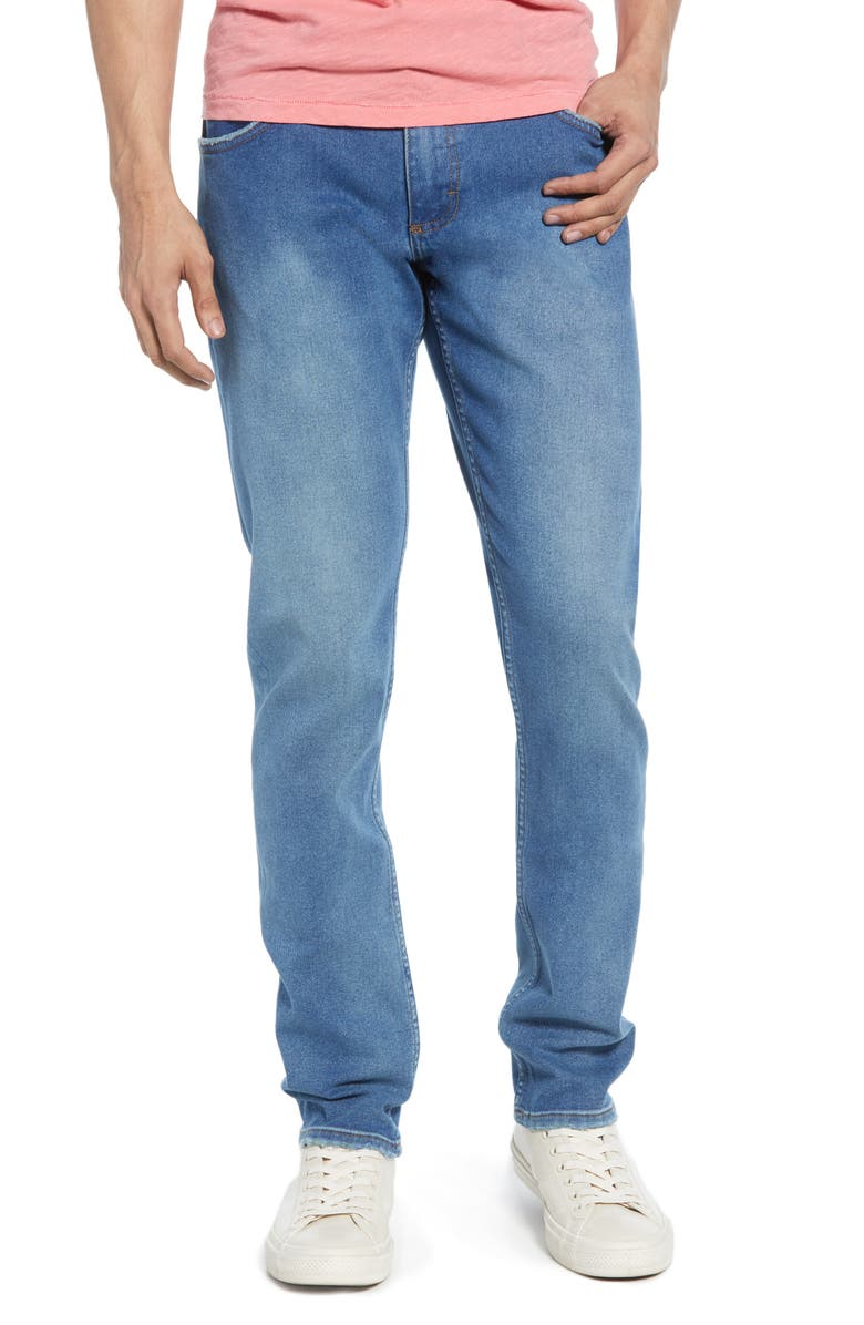 WRANGLER Larston Tapered Slim Fit Jeans, Main, color, BERMUDA BLUE