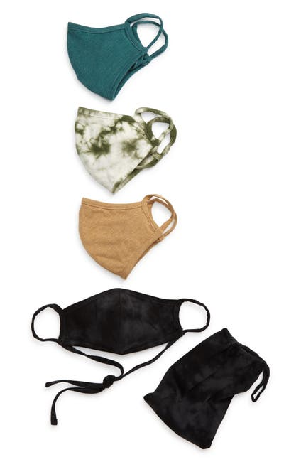 Image of Nordstrom Adult Tie Dye Face Mask - Pack of 4