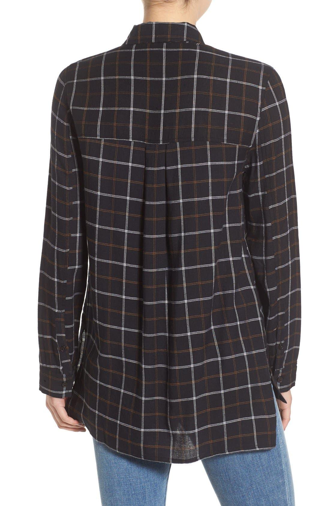 ,                             Plaid Tunic Shirt,                             Alternate thumbnail 9, color,                             002