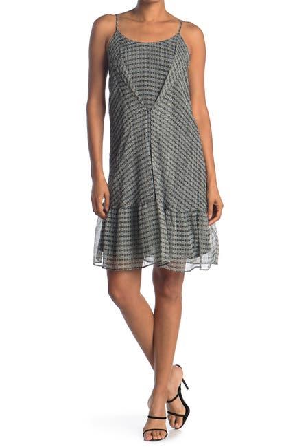 Image of 19 Cooper Printed Ruffle Hem Dress