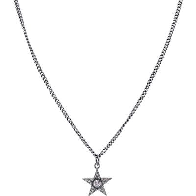 Sheryl Lowe Bezel Diamond Star Pendant Necklace