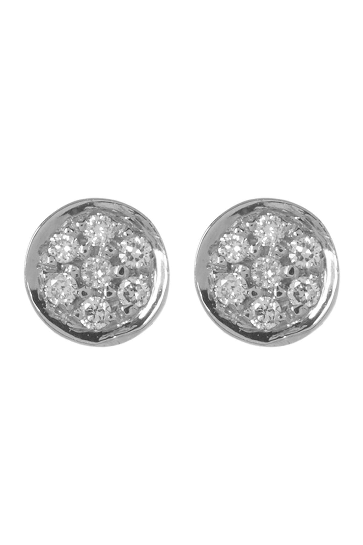 Image of Bony Levy 18K White Gold Round Pave Diamond Stud Earrings - 0.03 ctw