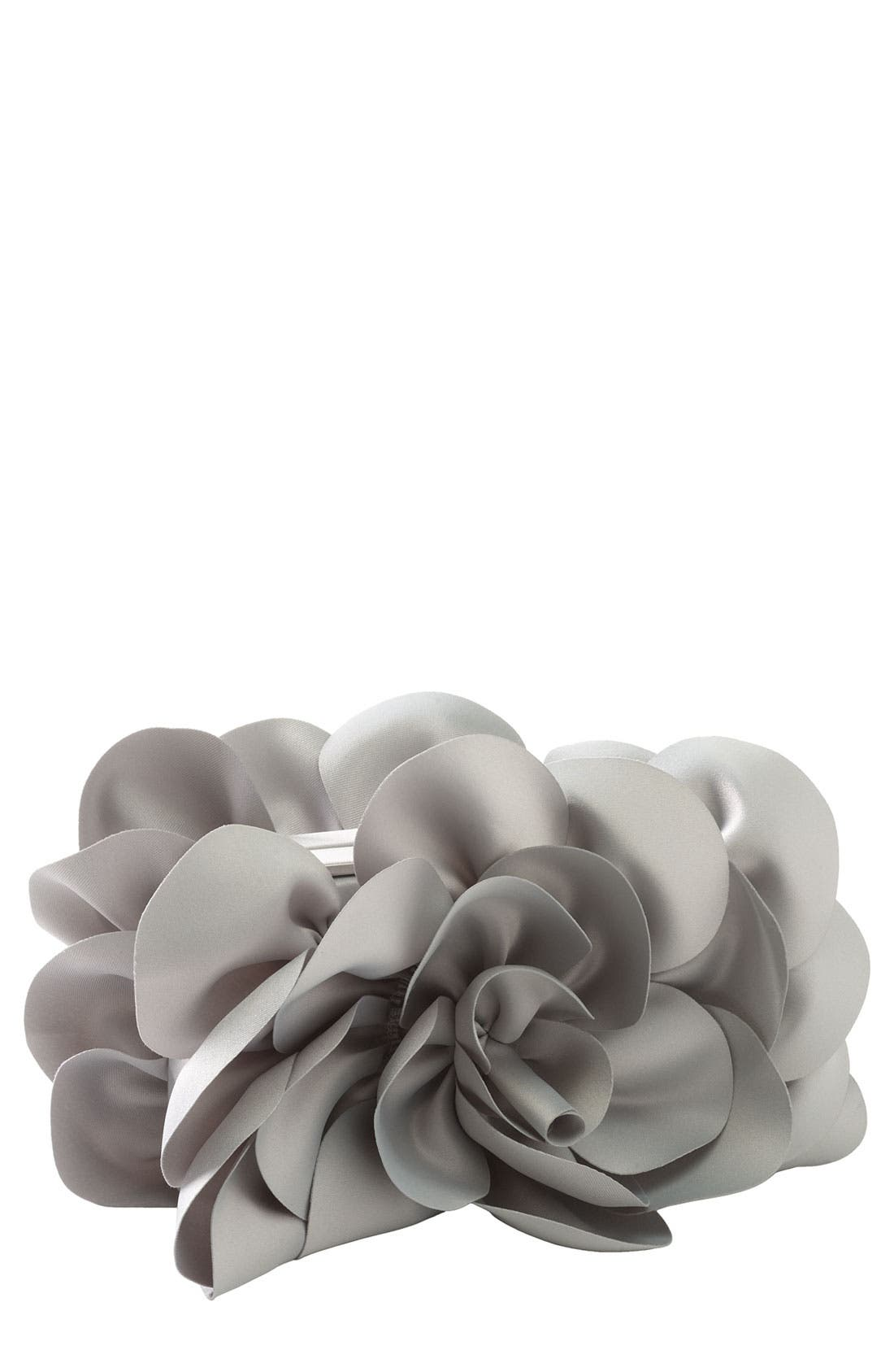 ,                             'Rose' Satin Box Clutch,                             Main thumbnail 3, color,                             020