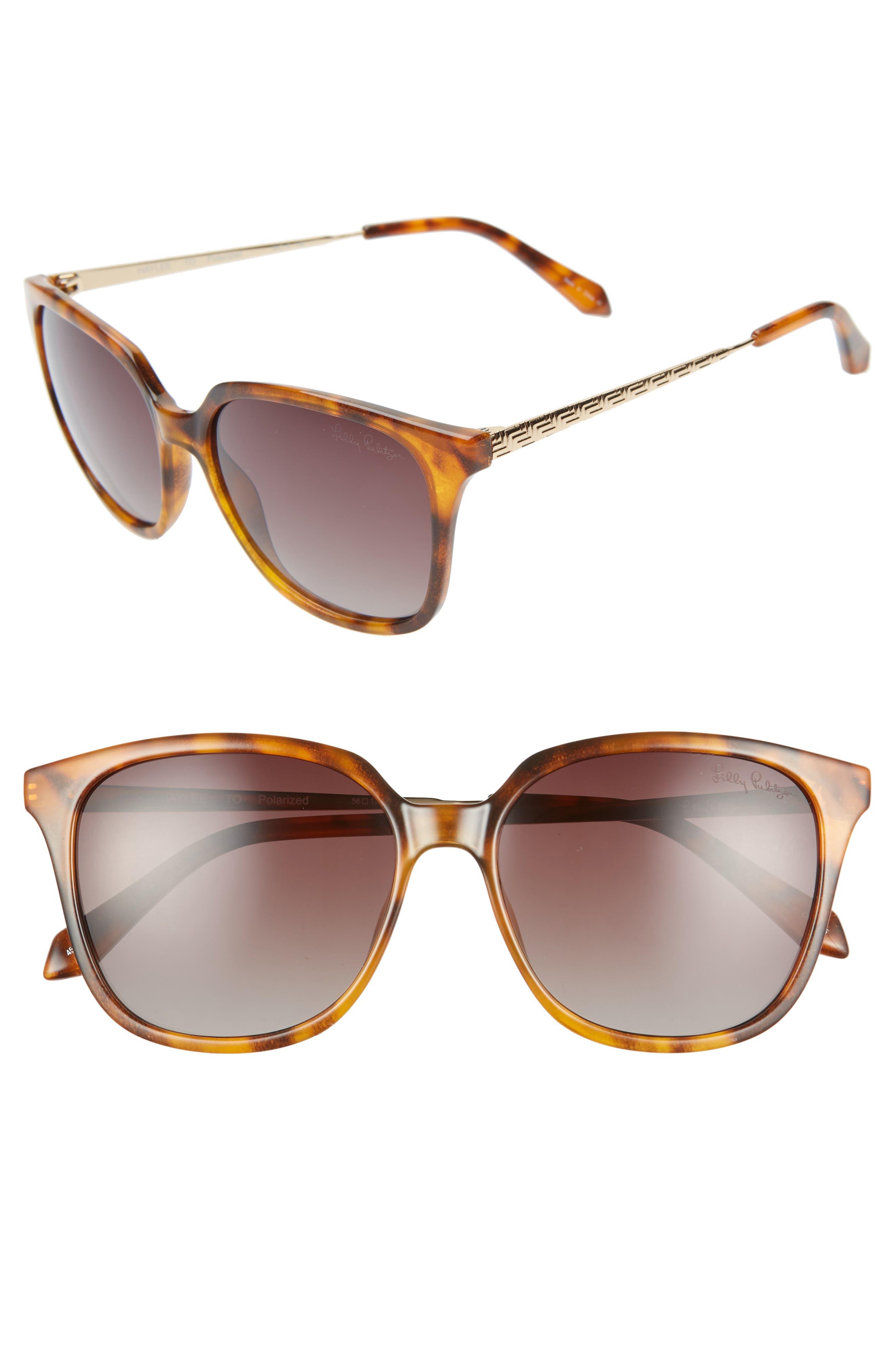 Lilly Pulitzer Haylee 5m Sunglasses - Caramel Tortoise/ Brown