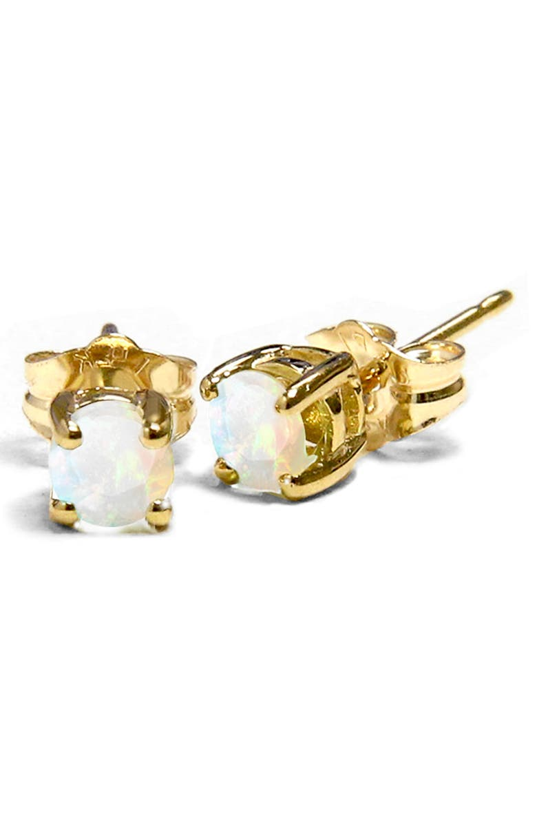 JANE BASCH DESIGNS Jane Basch Birthstone Earrings, Main, color, OPAL/ OCTOBER