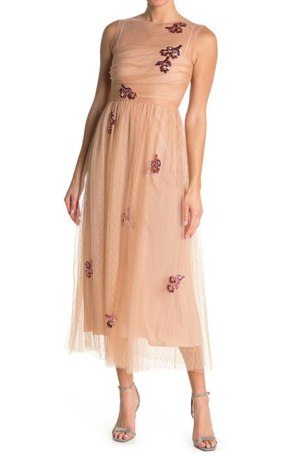 Image of RED Valentino Embroidered Mesh Dress