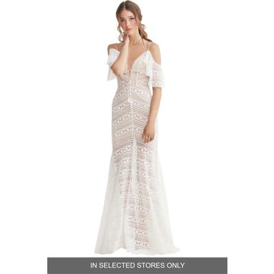 Willowby Jaycee Cold Shoulder Lace Wedding Dress