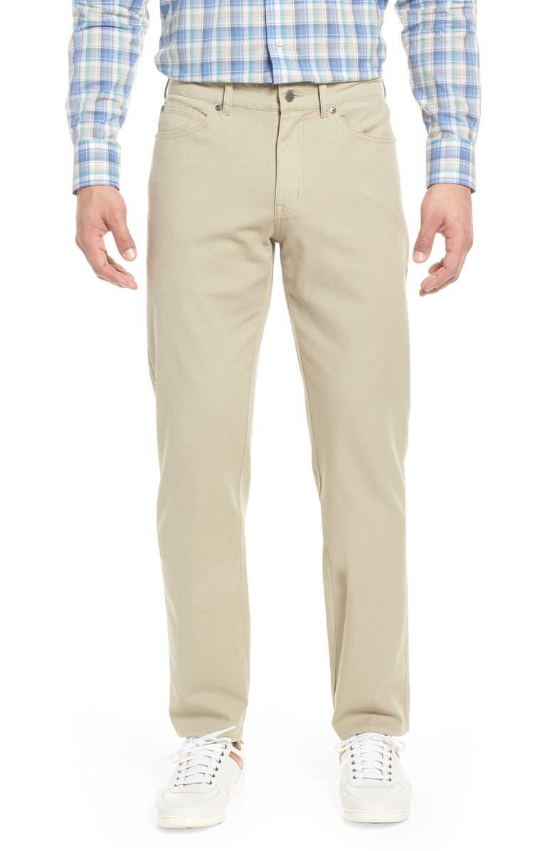 PETER MILLAR Crown Vintage Canvas Pants, Main, color, KHAKI