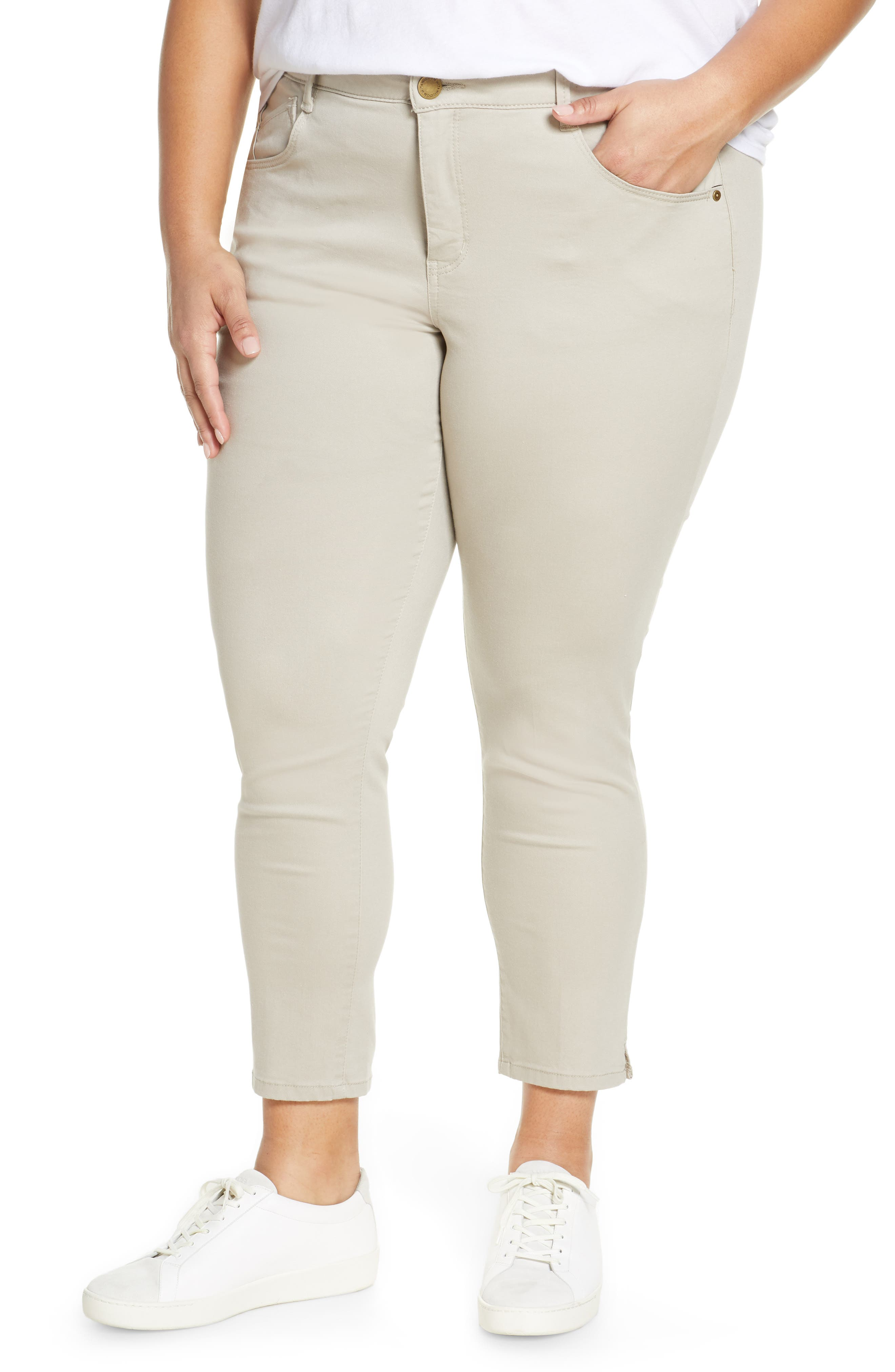 Plus  Women's Wit & Wisdom Ab-Solution High Waist Ankle Skinny Pants,  22W - Beige (Plus ) (Nordstrom Exclusive)