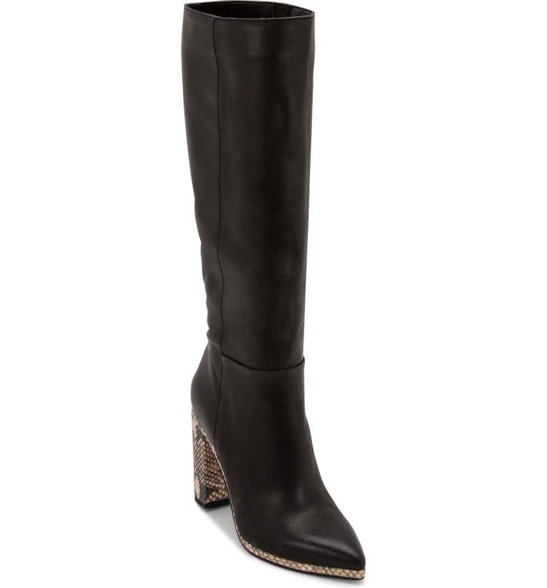 DOLCE VITA Becker Tall Pointy Toe Boot, Main, color, 001
