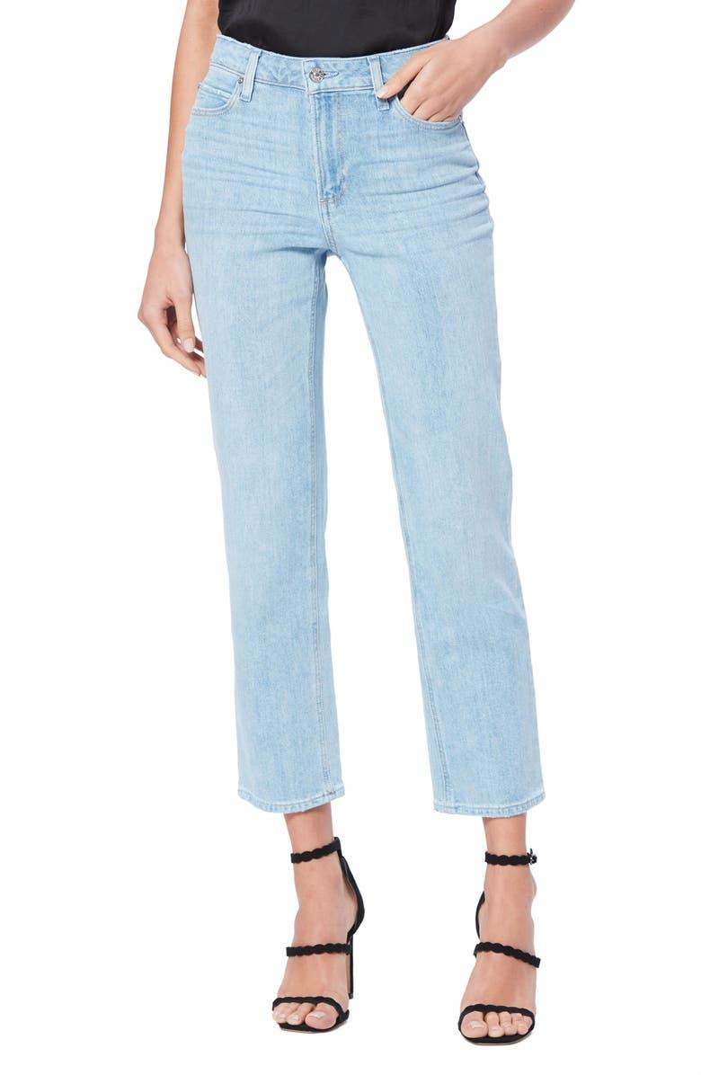 PAIGE Vintage Noella High Waist Crop Straight Leg Jeans, Main, color, LANDSLIDE