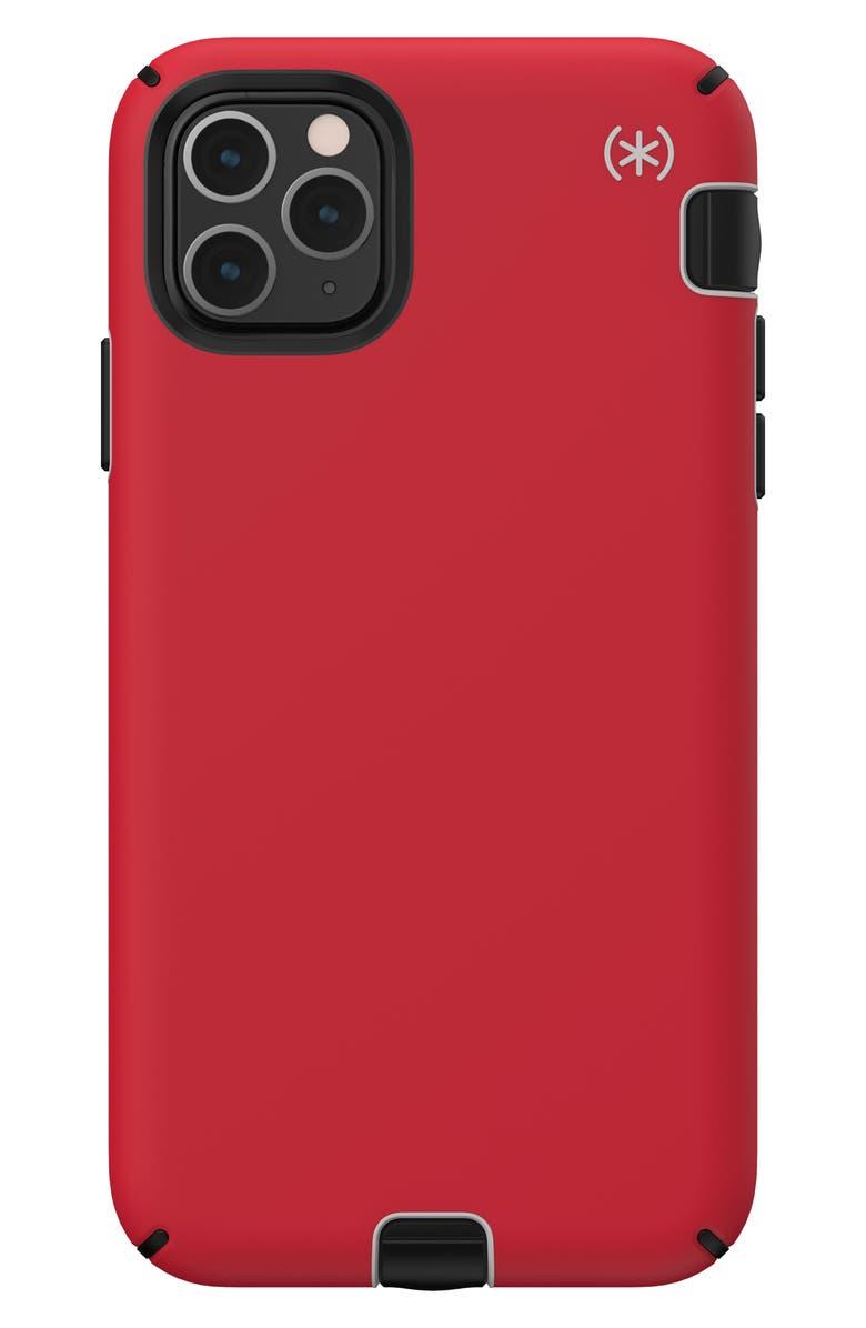 SPECK Presidio Sport iPhone 11/11 Pro/11 Pro Max Phone Case, Main, color, HEARTRATE RED GREY BLK