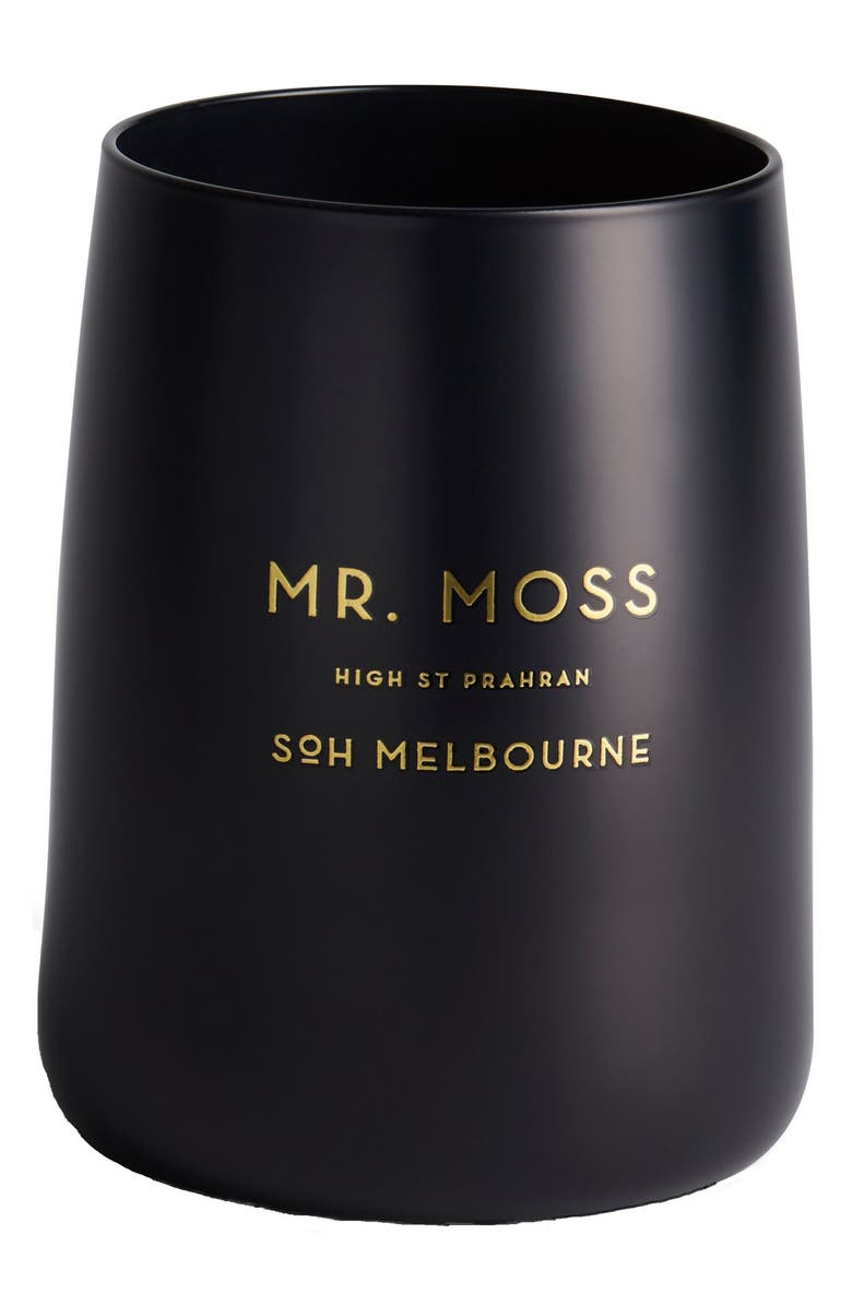 SOH MELBOURNE Black Matte Candle, Main, color, MR. MOSS