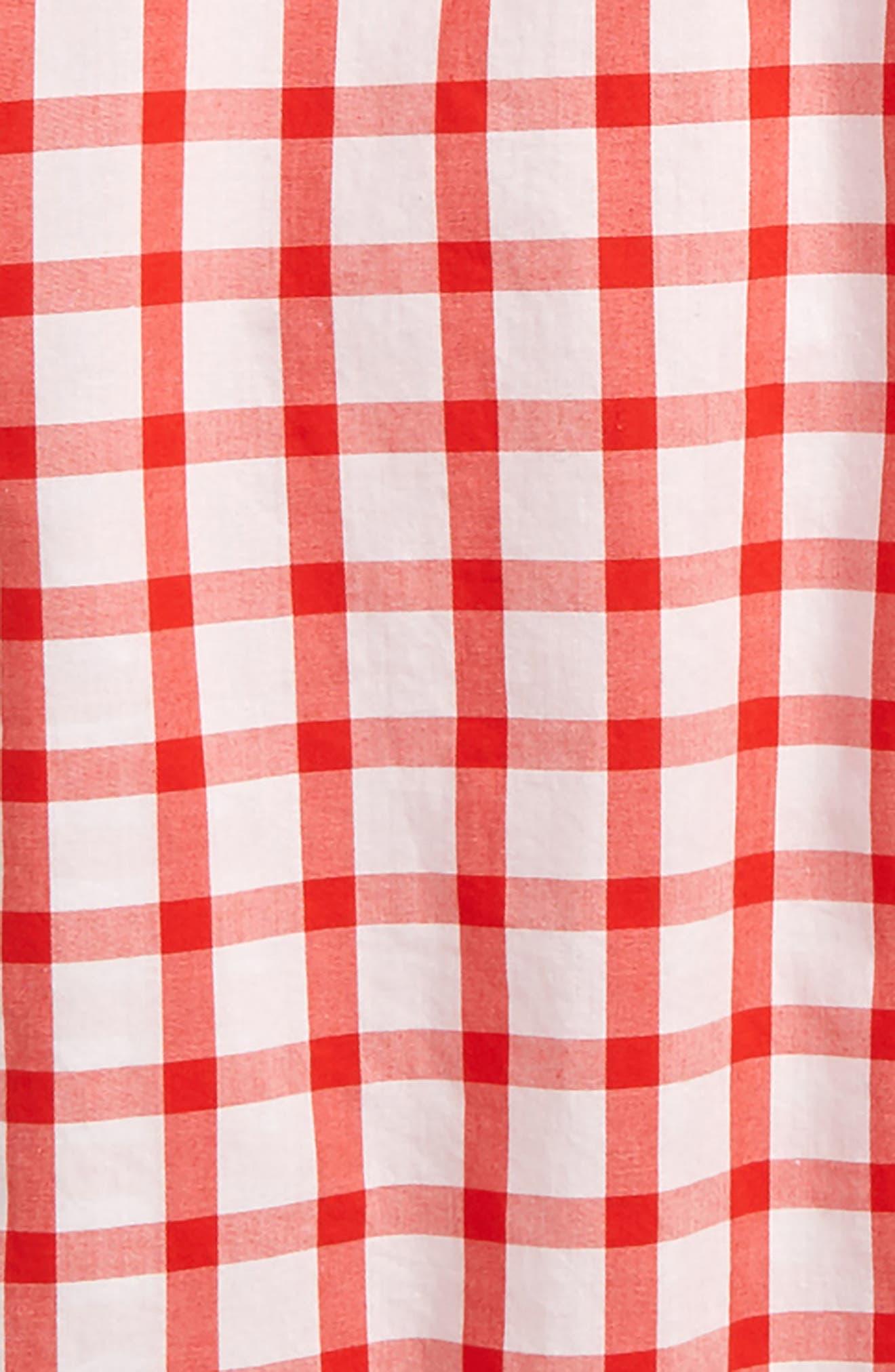 ,                             Check Stretch Poplin Shirt,                             Alternate thumbnail 2, color,                             WHITE/ RED