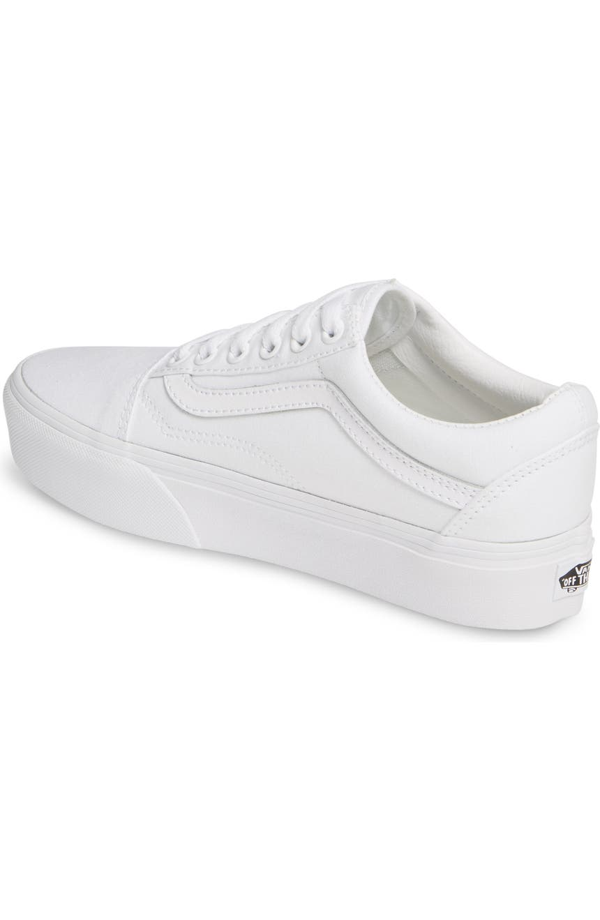 UA Old Skool Platform (Off the Wall) true white