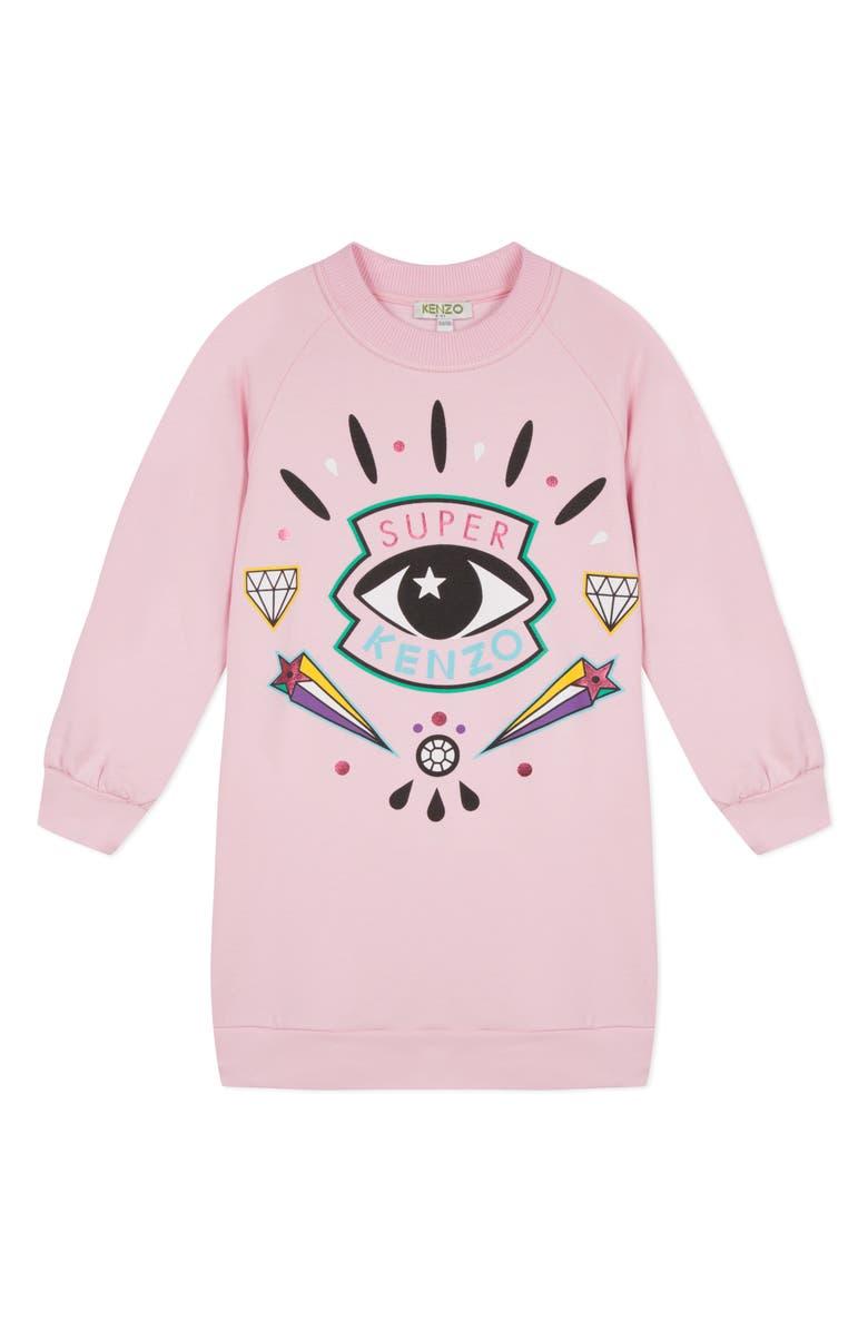 KENZO Eye Sweatshirt Dress, Main, color, 692
