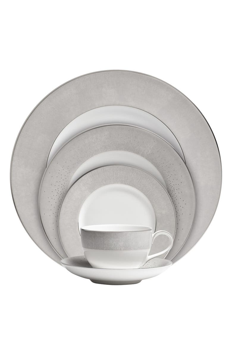 MONIQUE LHUILLIER WATERFORD 'Stardust' 5-Piece Bone China Dinnerware Place Setting, Main, color, 900