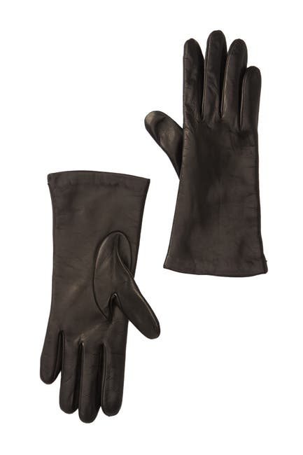 Image of Portolano Cashmere Lined Leather Gloves
