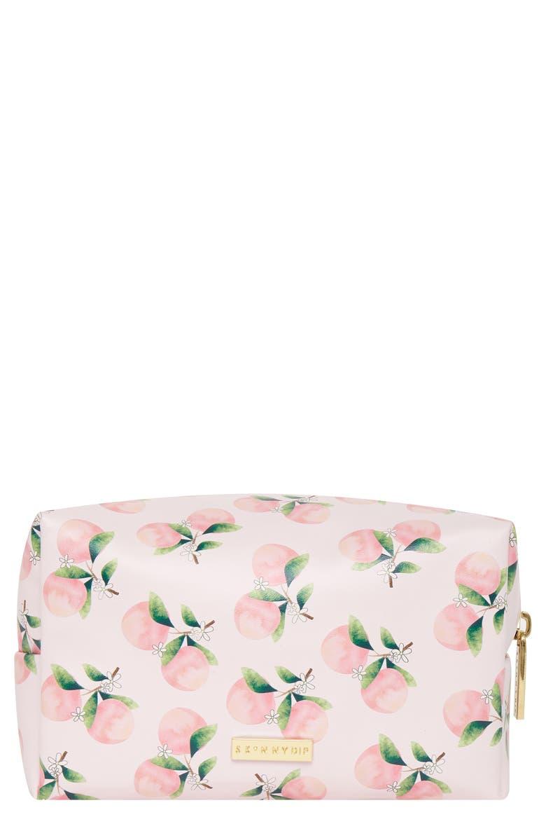 SKINNYDIP Peach Tree Makeup Bag, Main, color, NO COLOR